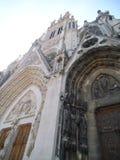 Une façade ornated gentille d'église en Nancy Saint Epvre images libres de droits