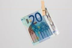 Billet de banque de l'euro vingt Photos stock