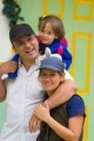 Une famille appréciant ensemble Image stock