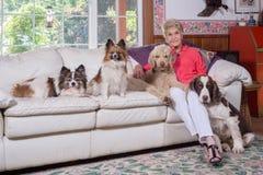 Une famille de la femme Photos stock
