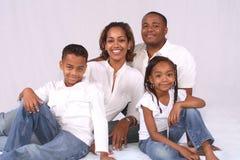 Une famille heureuse Images libres de droits