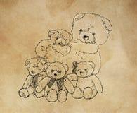 Une famille tendre des ours de fourrure photo libre de droits