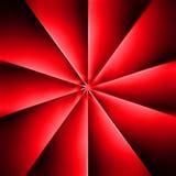 Une fan rouge sur l'obscurité Image stock