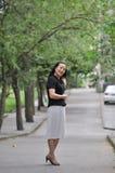 Une femme chinoise futée Image libre de droits