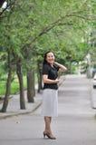 Une femme chinoise futée Images libres de droits