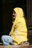 Une femme de Nepali dans la robe traditionnelle, Vanarasi Photographie stock libre de droits