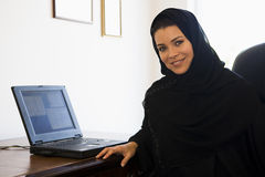 Une femme du Moyen-Orient Images libres de droits