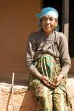 Une femme népalaise plus âgée Photo stock