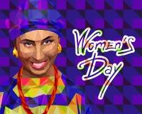 Une femme orientale dans le bas style de polygone illustration libre de droits