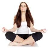 Une femme s'exerce Forme physique Image libre de droits