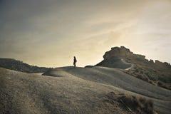 Une femme solitaire Photographie stock libre de droits