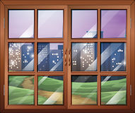 Une fenêtre illustration de vecteur