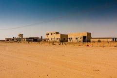 Une ferme avicole dans le désert, province de Riyadh, Arabie Saoudite image stock