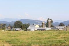 Une ferme en vallée britannique de Columbias Fraser Photographie stock