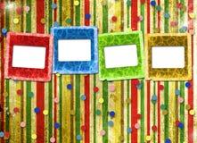 Une feuille de papier avec des glissières Photos stock