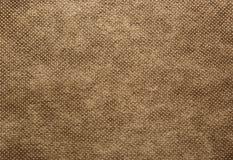 Une feuille de profondément, grossièrement textile tissé dans la couleur brune Texture images libres de droits