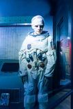 Une figure de cire d'affichage de Neil Alden Armstrong chez Josephine Tussaud Images libres de droits