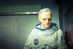 Une figure de cire d'affichage de Neil Alden Armstrong chez Josephine Tussaud Photos libres de droits