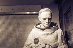 Une figure de cire d'affichage de Neil Alden Armstrong chez Josephine Tussaud Photos stock