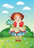 Une fille assez petite Photos stock