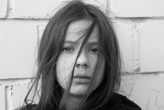 Une fille dans l'ennui Photographie stock libre de droits
