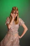 Une fille dans la robe orientale images libres de droits