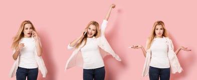 Une fille dans trois poses Photo libre de droits