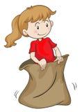 Une fille dans un sac illustration libre de droits