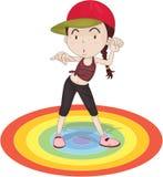 Une fille de danse illustration de vecteur