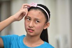 Une fille de l'adolescence confuse photographie stock libre de droits