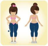 Une fille de poids excessif. Photo libre de droits