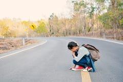 une fille en nature Photographie stock libre de droits