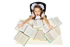 Une fille et livres Photos libres de droits