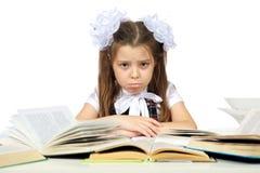 Une fille et livres Photographie stock libre de droits