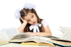 Une fille et livres Photo stock
