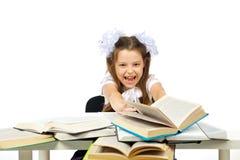 Une fille et livres Images stock
