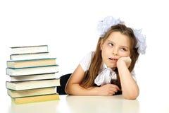 Une fille et livres Photo libre de droits