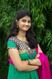 Une fille indienne simple Photo stock