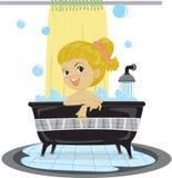 Une fille prenant Bath Images libres de droits