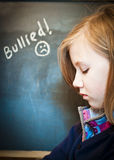 Une fille triste d'école Photo libre de droits