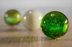 Une fin d'un marbre vert Photo stock