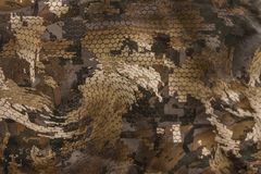Une fin de modèle de camouflage  Photos stock