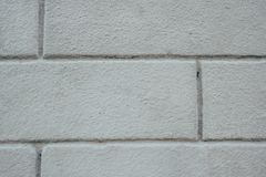 Une fin grise de mur de briques  photos libres de droits