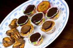Décoration de gâteau de tasse Photos stock