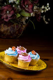 Décoration de gâteau de tasse Photos libres de droits