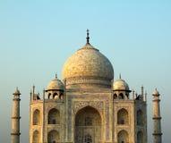 Une fin vers le haut de la vue de Taj Mahal à Âgrâ, Inde image stock
