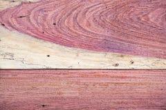 Une fin vers le haut de section de fond rouge aromatique de Cedar Lumber Wooden image stock