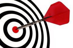 Une flèche de dard heurte sa cible Photos libres de droits