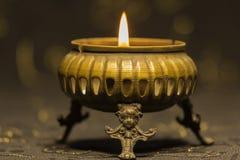 Une flamme de bougie Photo libre de droits