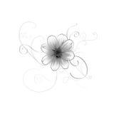 Une fleur gentille d'été avec des remous illustration de vecteur